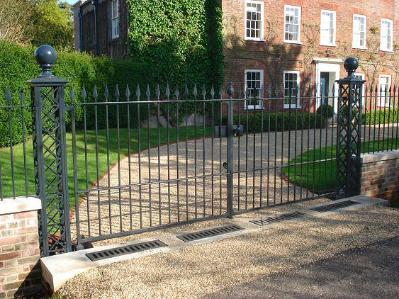 architectural image - new gates and railings